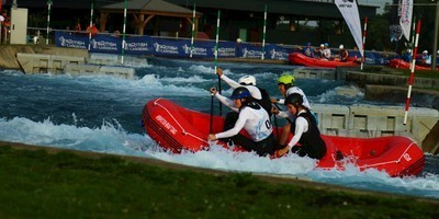 Rafting Teams des AKV beim Eurocup in Lee Valley