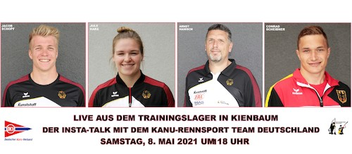 Live Talkrunde der Kanu-Rennsport Nationalmannschaft